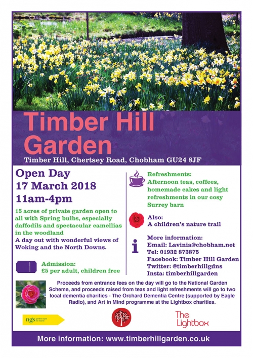 Timber Hill Garden Open Day - Saturday 17 March 2018
