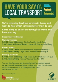Have your say on local transport